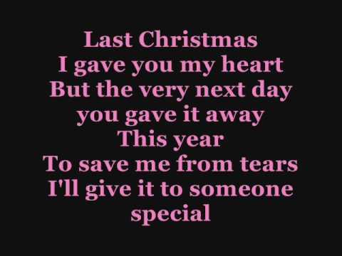Texto: Cascada, Last Christmas, with lyrics (Karaoke)